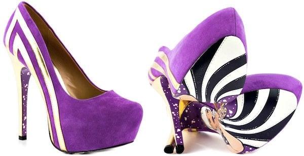 """TaylorSays """"Blondie"""" Platform Pumps in Purple"""