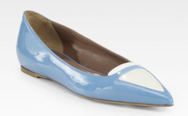 Tabitha Simmons Alexa Bicolor Flats Blue