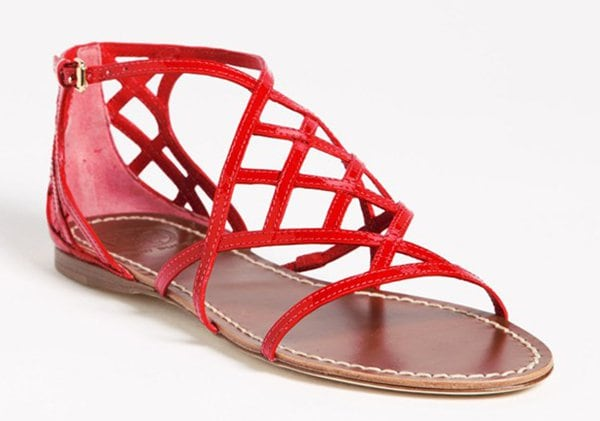 Tory Burch Amalie Sandals Red