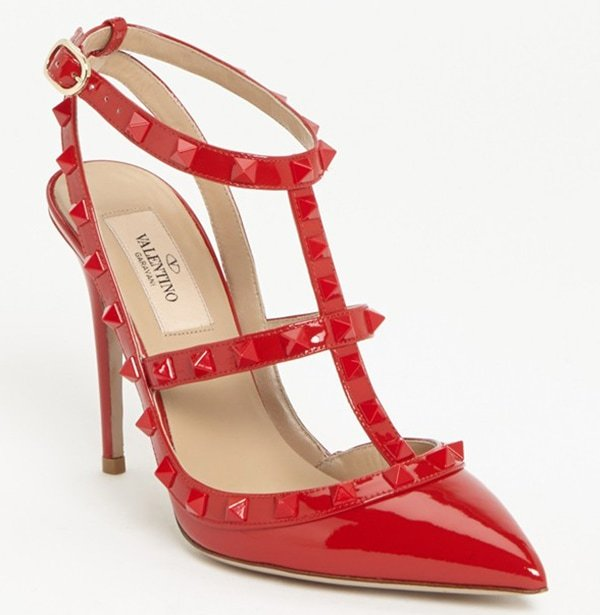 "Valentino ""Punkouture Rockstud"" Pumps in Red"