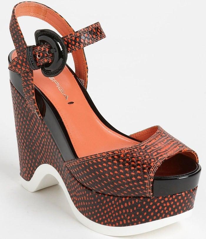 Via Spiga Aubrey Peep Toe Platform Wedge Sandals
