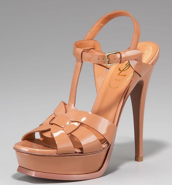 """Yves Saint Laurent """"Tribute"""" Patent Sandals"""