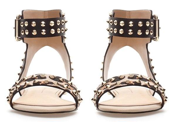Zara Leopard Print Studded Sandals2Zara Leopard Print Studded Sandals
