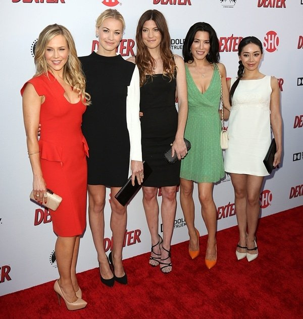 Actresses from Showtime's 'Dexter' at the show's 8th season premiere at Milk Studios in Los Angeles on June 15, 2013