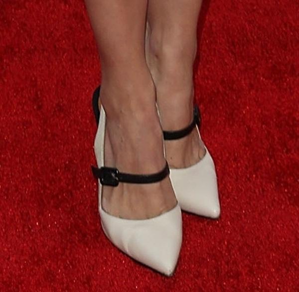 Aimee Garcia in Fendi slingback Mary Jane pumps