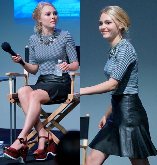 AnnaSophia Robb attends a The Way, Way Back meet and greet at the Apple store in SoHo, New York, on June 28, 2013