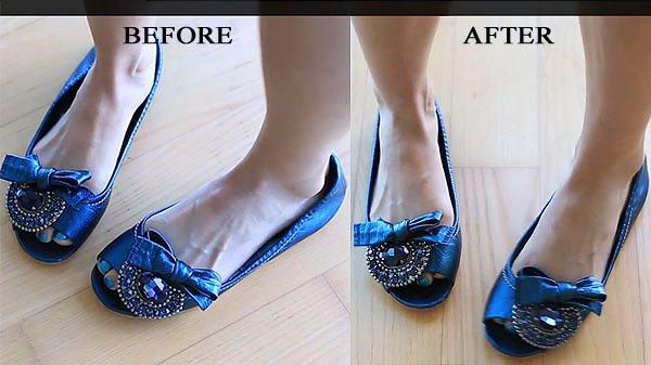 Evelina Barry's Miu Miu flats before and after (It's like magic!)