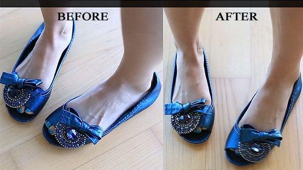 Evelina Barry's Miu Miu flats before and after (It's like magic!)