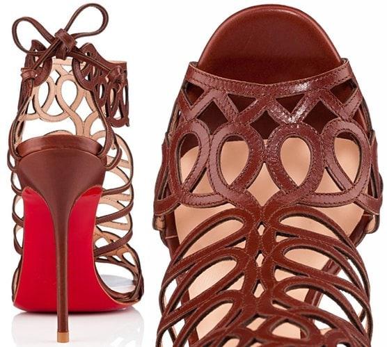 Christian Louboutin Zigouwi sandals in havane calf leather