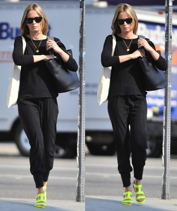Emily Blunt shopping on Melrose Avenue in West Hollywood on May 31, 2013