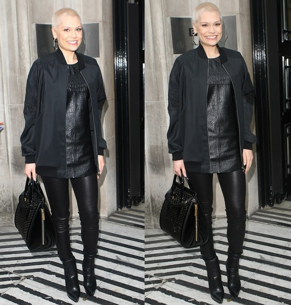 Jessie J at Radio 2 to promote the semifinal round of The Voice in London on June 13, 2013