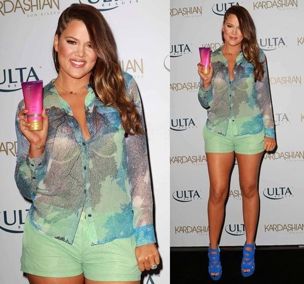 khloe kardashian sun kissed event at ulta