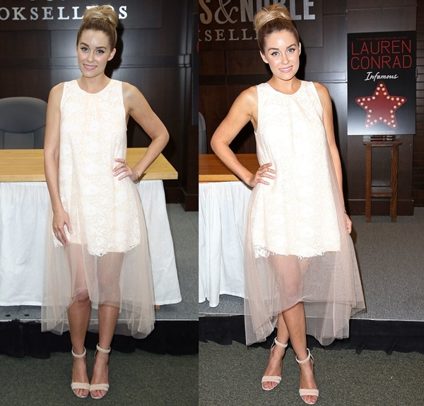 Lauren Conrad at a book signing for her latest novel, Infamous, at Barnes & Noble in Los Angeles on June 11, 2013