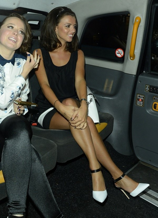 Lucy Mecklenburgh seen leaving Retro Feasts