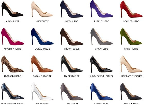 Color selection for your made-to-order Manolo Blahnik BB pumps