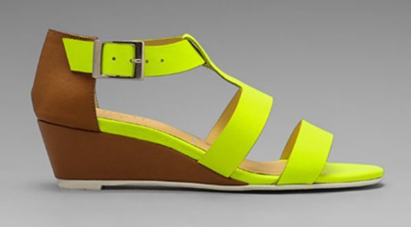 Nanette Lepore 'Absolute Wonder' Wedges in Neon Yellow