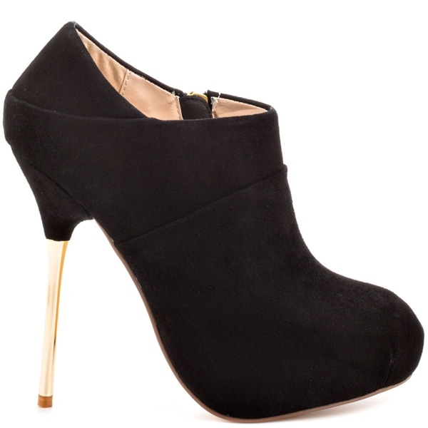 obsession rules casi gold heeled ankle boots