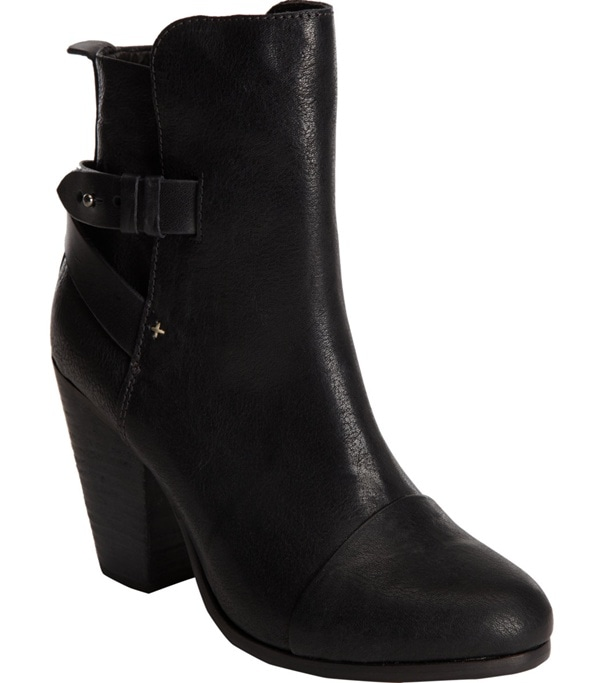 "Rag & Bone ""Kinsey"" Black Leather Ankle Boots"