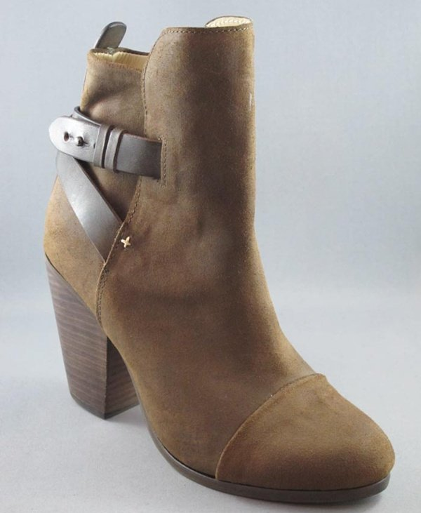 Rag & Bone Kinsey Brown Nubuck Leather Ankle Boots