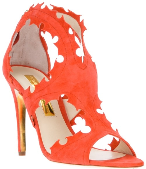 Rupert Sanderson 'Floria' Sandals in Orange