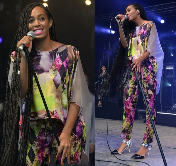 Solange Knowles performing at the 2013 Glastonbury Festival in Glastonbury on June 28, 2013