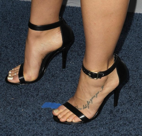 "Briga Heelan revealed her ""There But For You Go I"" foot tattoo"