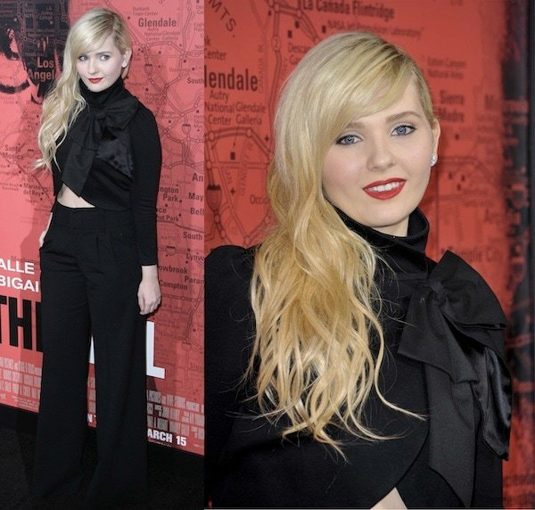 Abigal Breslin's trendy attire at the premiere of The Call in Los Angeles