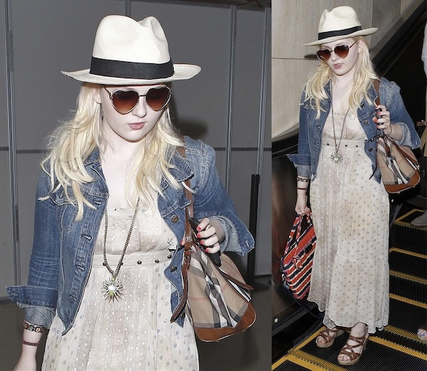 Abigail Breslin arriving at LAX in a trendy yet casual ensemble