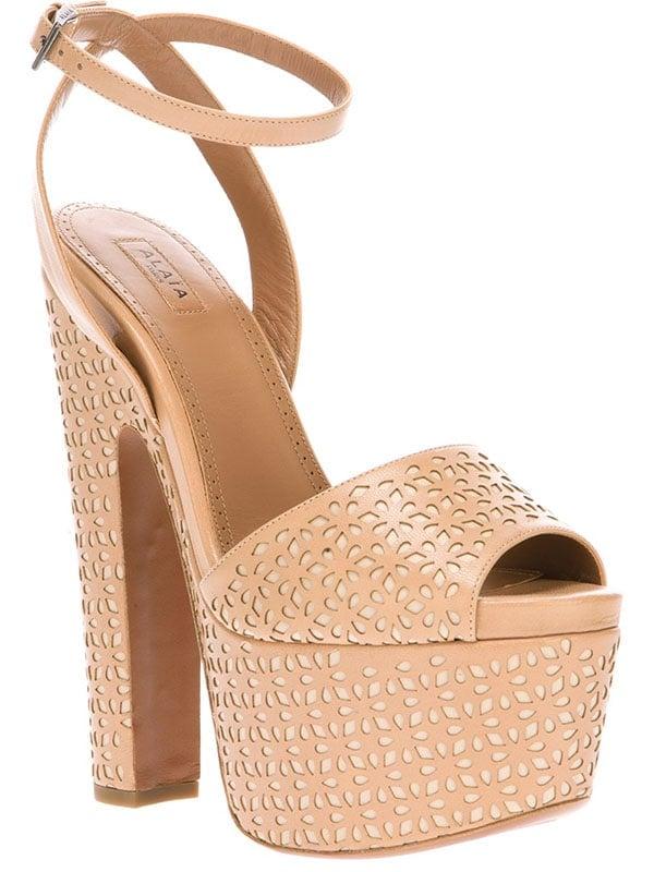 Nude Alaia Platform Sandals