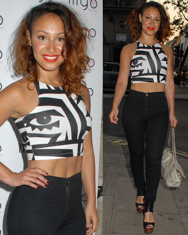 Amelle Berrabah at the MYO Fashion Summer Collection 2013 show and party at Aura in London on July 6, 2013