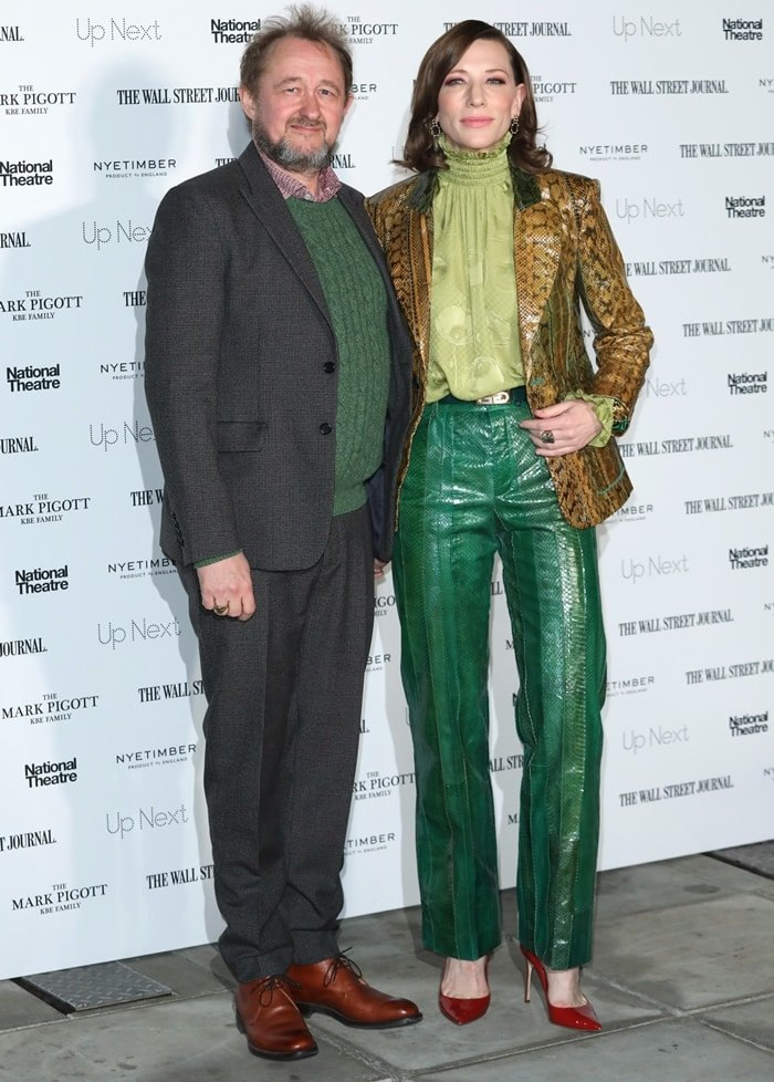 Andrew Upton and Cate Blanchett attend the 'Up Next Gala' at The National Theatre on March 05, 2019 in London, England