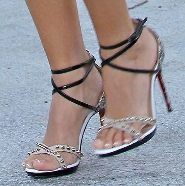 Ashley Tisdale wearing Christian Louboutin Monocronana heels
