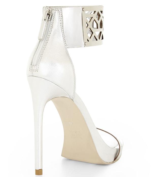 BCBGMAXAZRIA Estie Sandals Silver