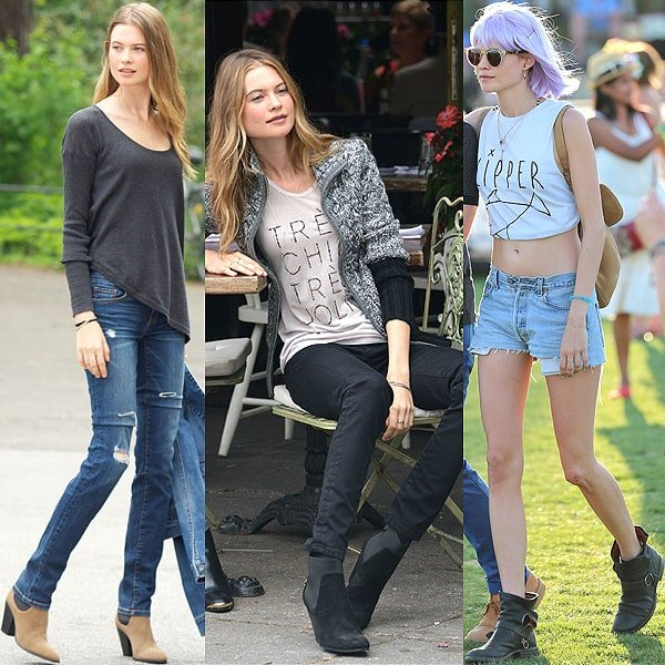 Behati Prinsloo at Victoria's Secret photo shoot at Central Park in New York on May 20, 2013; relaxing at a photo shoot in New York on May 22, 2013; at the 2013 Coachella Valley Music and Arts Festival in Indio, California, on April 12, 2013