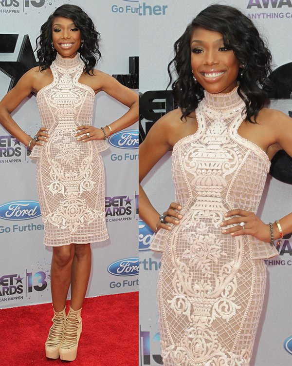 Singer Brandy Norwood attends the 2013 BET Awards