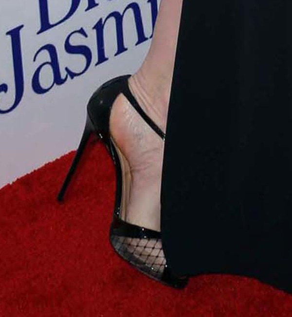 Cate Blanchett wearing Christian Louboutin 'Lagoula' fishnet pumps