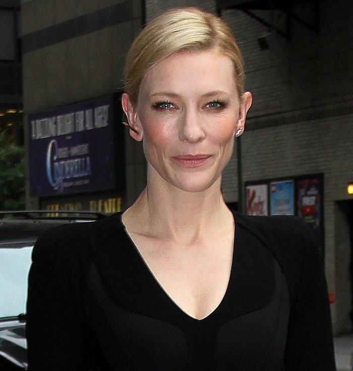 Cate Blanchett's dress with a classic v-neckline