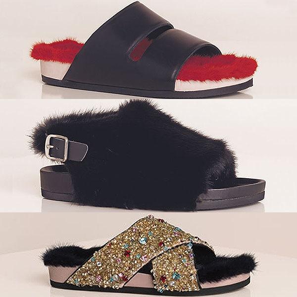 Celine Summer 2013 fur sandals