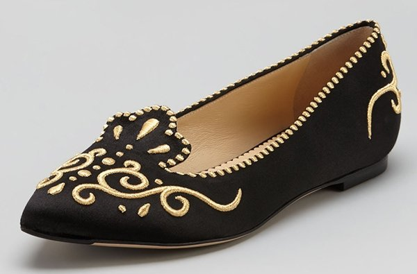 Charlotte Olympia Countessa Crown Flats