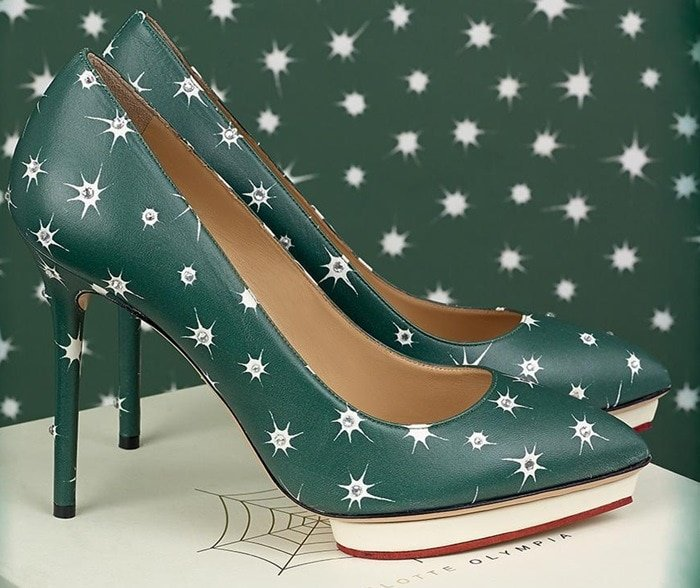 Charlotte Olympia Green Debbie Pumps