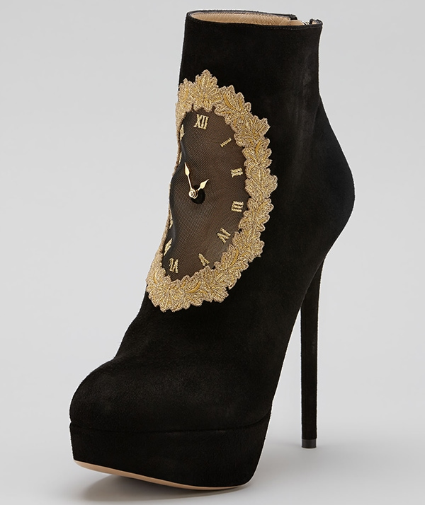 Charlotte Olympia On Time Clock Face Boot