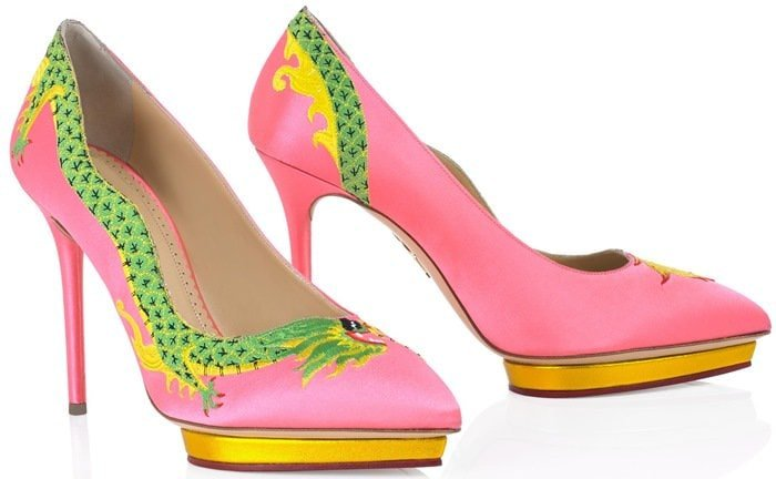 Charlotte Olympia Pink Auspicious Debbie Pumps