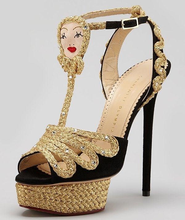 Charlotte Olympia Rapunzel Braided Platform Sandals
