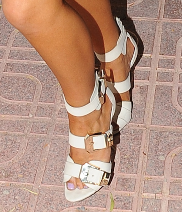 Chelsee Healey triple-strap design shoes