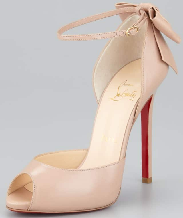 Christian Louboutin Dos Noeud Ankle-Strap Bow Pumps