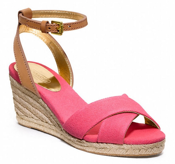 Cyclamen and Ginger Coach Henley Wedges Pink