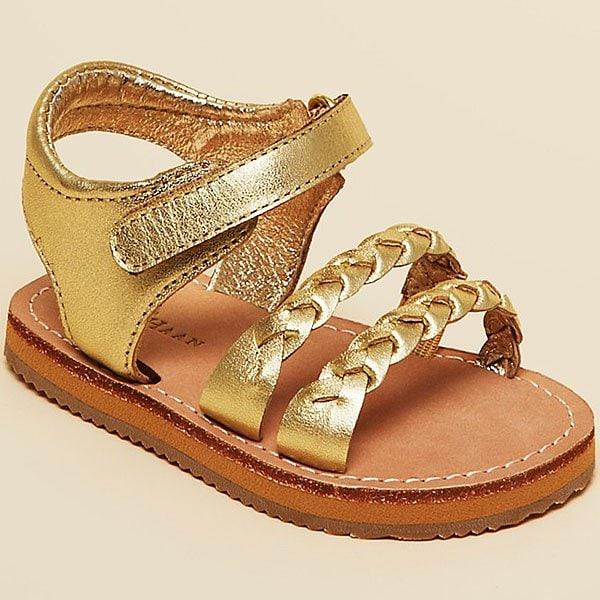 Cole Haan Girls' Mini Jamie Goldtone Sandals