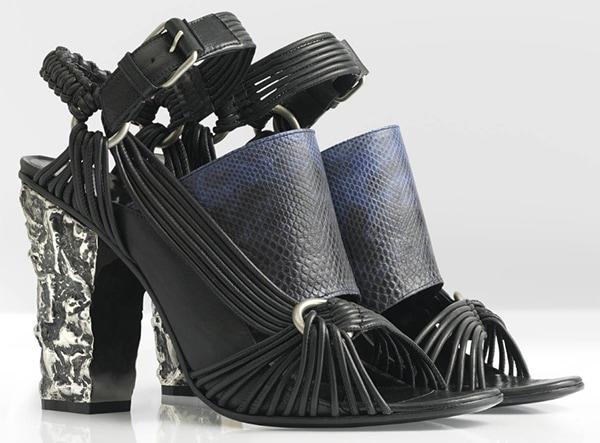 Damir Doma Spring 2013 Sandals Black Snakeskin