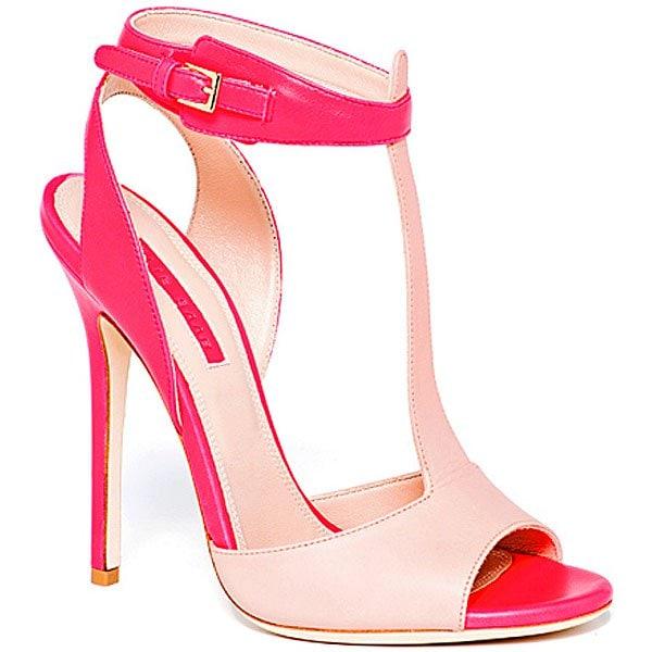Elie Saab Spring 2013 T-Strap Sandals