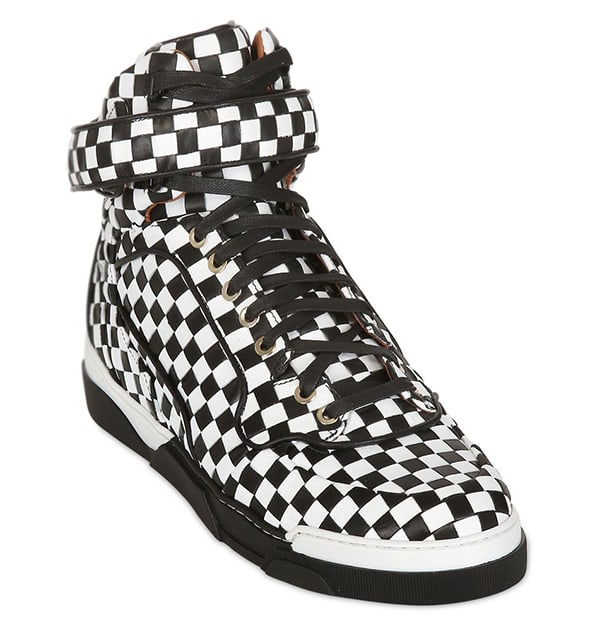 Givenchy Checkered Hi Top Sneakers